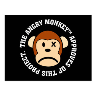 Seal of Approval: Project endorsed by Angry Monkey Postcard