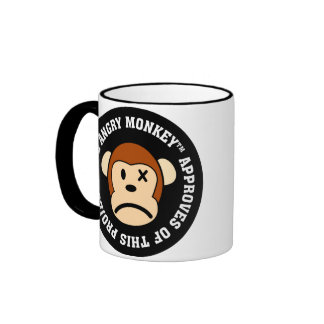 Seal of Approval: Project endorsed by Angry Monkey Ringer Coffee Mug