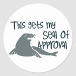 Seal of Approval Round Sticker