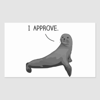 Seal of Approval Rectangle Stickers