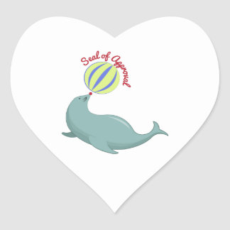 Seal of Approval Heart Stickers