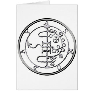 Seal of Asmoday Asmodeus Greeting Card