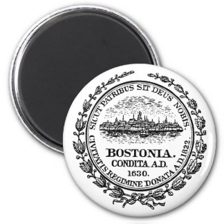 Seal of Boston, Massachussetts 2 Inch Round Magnet