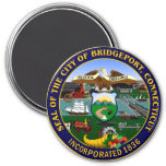 Seal of Bridgeport, Connecticut 3 Inch Round Magnet
