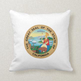 Seal of California Throw Pillow