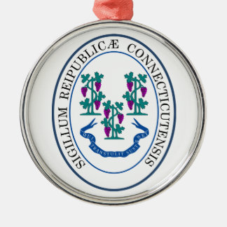 Seal of Connecticut Metal Ornament