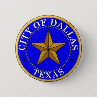 Seal of Dallas, Texas Pinback Button