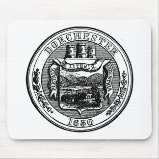 Seal of Dorchester Massachusetts, black Mouse Pad