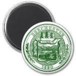 Seal of Dorchester Massachusetts, green 2 Inch Round Magnet