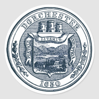 Seal of Dorchester Massachusetts, navy blue