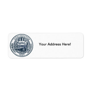 Seal of Dorchester Massachusetts, navy blue Label