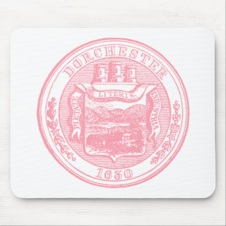 Seal of Dorchester Massachusetts, pink Mouse Pad