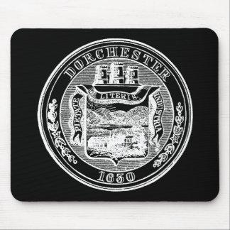 Seal of Dorchester Massachusetts, white Mouse Pad