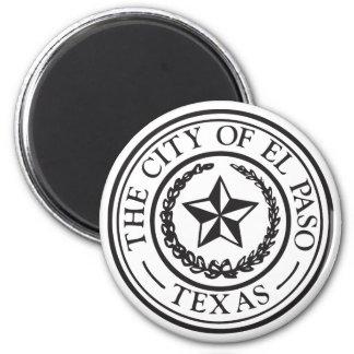 Seal of El Paso 2 Inch Round Magnet