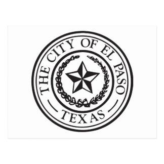 Seal of El Paso Postcard
