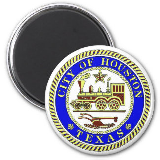 Seal of Houston 2 Inch Round Magnet