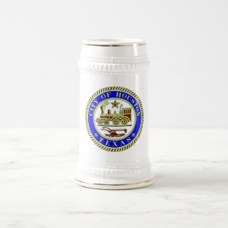 Seal of Houston Beer Stein