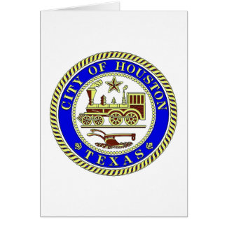 Seal of Houston Greeting Card
