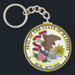 "Seal of Illinois Keychain<br><div class=""desc"">Seal of Illinois Keychain</div>"