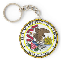 Seal of Illinois Keychain