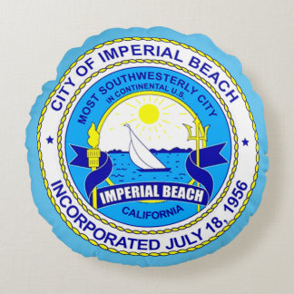 seal of Imperial Beach, California Round Pillow