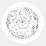 Seal of Jupiter Round Stickers