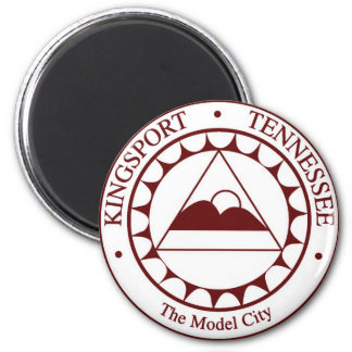 Seal of Kingsport, Tennessee 2 Inch Round Magnet
