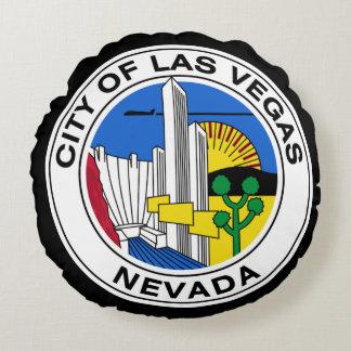 Seal of Las Vegas, Nevada Round Pillow