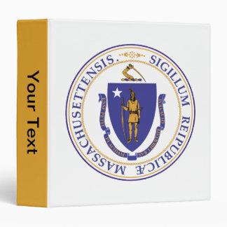 Seal of Massachusetts 3 Ring Binder