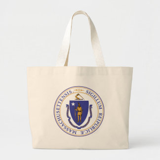 Seal of Massachusetts Large Tote Bag