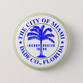 Seal of Miami, Florida Pinback Button
