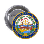 SEAL OF NEW HAMPSHIRE 2 INCH ROUND BUTTON