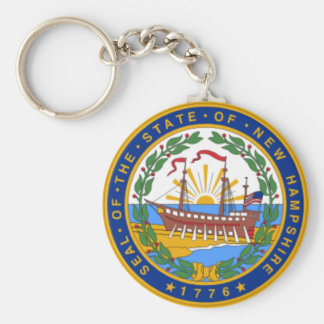 SEAL OF NEW HAMPSHIRE KEYCHAIN
