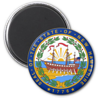 SEAL OF NEW HAMPSHIRE REFRIGERATOR MAGNET