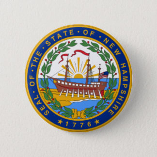 SEAL OF NEW HAMPSHIRE PINBACK BUTTON