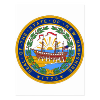 SEAL OF NEW HAMPSHIRE POSTCARD