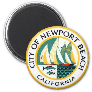 Seal of Newport Beach, California Magnet