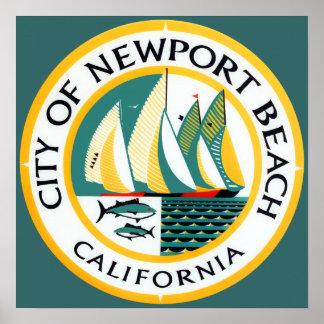 Seal of Newport Beach, California Poster