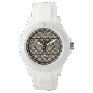 Seal of Solomon Cross of Tau Silicone Watch