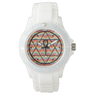Seal of Solomon With Ankh Silicone Watch