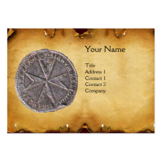 Seal of St. Stephen MONOGRAM parchment Large Business Card