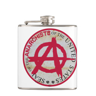 Seal of the Anarchists of the United States Flask
