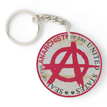 Seal of the Anarchists of the United States Keychain