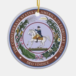 Seal of the Confederacy Ceramic Ornament