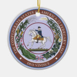 Seal of the Confederacy Double-Sided Ceramic Round Christmas Ornament