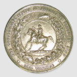 Seal of the Confederate States of America Brass Classic Round Sticker