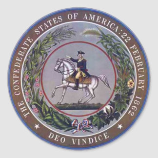 Seal of the Confederate States of America Round Sticker