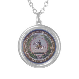 SEAL OF THE CSA SILVER PLATED NECKLACE