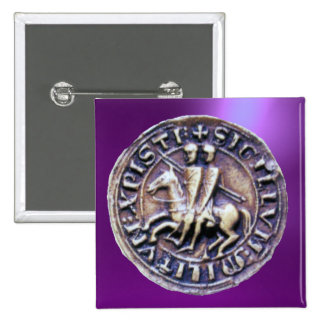 SEAL OF THE KNIGHTS TEMPLAR 2 INCH SQUARE BUTTON