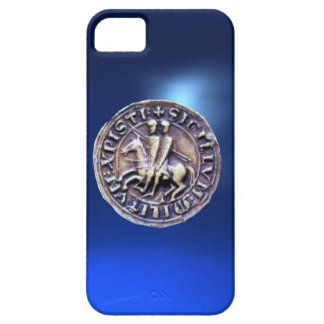 SEAL OF THE KNIGHTS TEMPLAR blue iPhone 5 Case